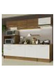 Cozinha Completa Madesa Onix 240002 Com Armário E Balcão - Rustic/Branco 5Z9B