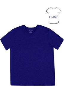 Camiseta Masculina Básica Na Modelagem Slim Em Flamê
