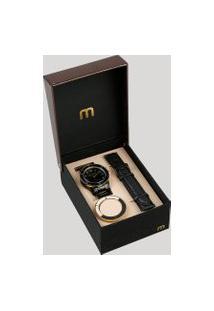 Relógio Analógico Mondaine Troca Pulseira Feminino - 99265Lpmvpe2 Preto
