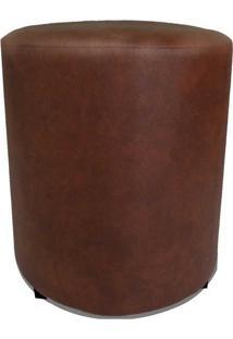 Puff Round Madeira Corano Caramelo - Markine Mobilier
