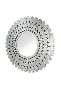 Espelho Veneziano Redondo Petalas Cor Prata - 35452 Sun House