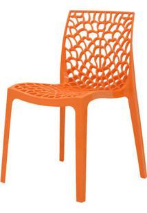 Cadeira Gruver Em Polipropileno Cor Laranja - 44966 - Sun House