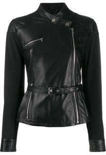 Pinko Belted Slim-Fit Jacket - Preto