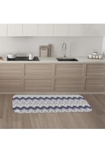 Tapete De Cozinha Mdecore Abstrato Branco 40X120Cm