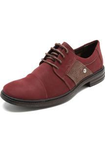 Sapato Social Mariner Cadarço Vinho/Marrom