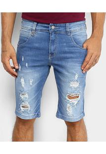 Bermuda Rock & Soda Jeans Masculina - Masculino