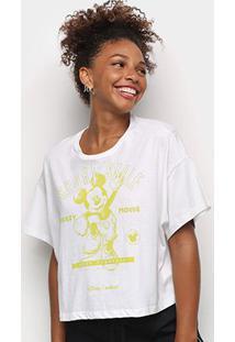 Camiseta Colcci Sport Style Mickey Feminina - Feminino-Marrom
