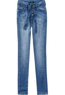 Calça Jeans Super Skinny Malwee Azul Claro - 34