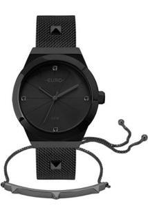 Relógio Euro Unique Feminino - Feminino-Preto