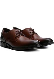 Sapato Social Couro Pegada Anilina - Masculino-Marrom Escuro