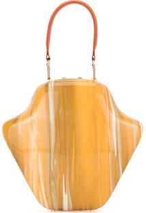 Sabry Marouf Bolsa Com Alça De Mão - Amarelo
