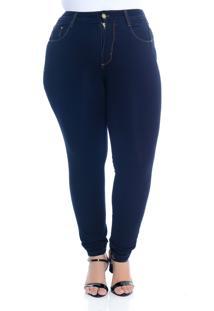Calça Jeans Plus Size Manifesto Cigarrete Bi-Stretch