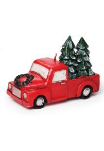 Vela Carro C/ Pinheiro Decoraã§Ã£O Natal Vermelha - Vermelho - Dafiti