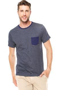 Camiseta Fiveblu Manga Curta James Azul-Marinho