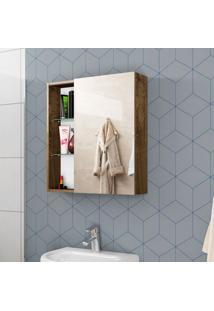 Armário Para Banheiro Nancy Madeira Rústica