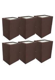 Arandela Premium Marrom Kit Com 6 Casah