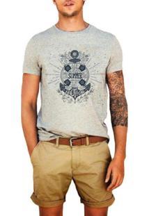 Camiseta Masculina Joss Summer Nautical Cinza
