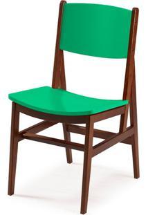 Cadeira Dumon Cor Cacau Com Verde Anis - 30800 - Sun House