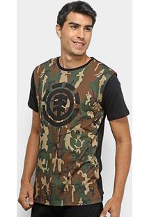 Camiseta Element Camuflada Masculina - Masculino