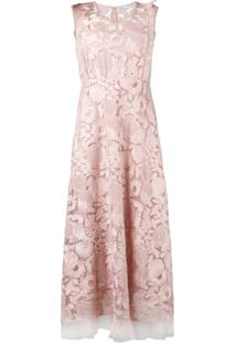 Red Valentino Floral Lace Dress - Rosa