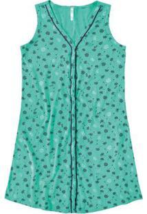Camisola Verde Água Floral