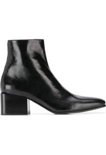 Acne Studios Ankle Boot Envernizada - Preto