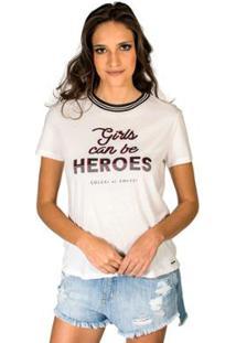 Camiseta Estampada Colcci - Feminino-Off White