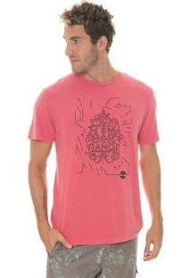 Camiseta Timberland Sunny Town Masculina - Masculino-Vermelho