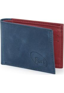 Carteira Fort Calçados Cinza Azul Vermelho - 131