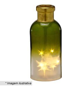 Garrafa Decorativa Com Luz- Verde & Amarela- 24,5Xã˜1Mabruk