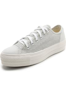 5a2a75fc021 ... Tênis Couro Converse Chuck Taylor All Star Branco