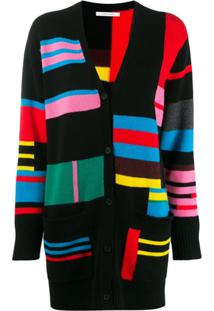 Chinti & Parker Cardigan Color Block - Preto