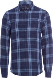 Camisa Masculina Double Indigo - Azul