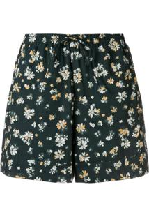 See By Chloé Floral Print Shorts - Verde