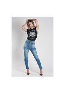 Calça 4042 Jeans Skinny Traymon Azul