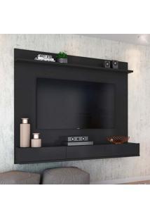 Painel Para Tv 55 Polegadas Winterfel Preto Acetinado 180 Cm