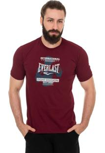 Camiseta Everlast Fight Division Vinho