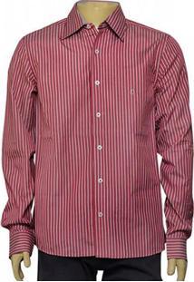 Camisa Masc Individual 302.25775.001 Listrado Vermelho/Branco