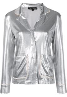 Love Stories Metallic Pyjama Top - Prateado
