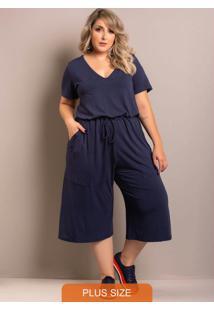 Macacão Comfy Plus Size Azul