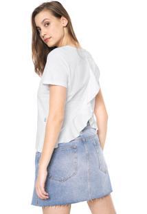 Camiseta Triton Babados Branca
