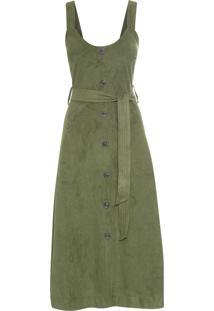 Vestido Vitoria Suede - Verde