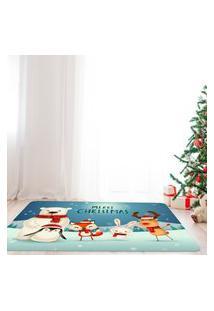 Tapete De Natal Para Sala Feliz Natal Com Animais Único