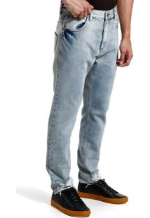 Calça John John Rock Monchau Jeans Azul Masculina (Jeans Claro, 40)