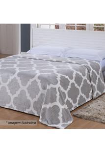 Cobertor De Microfibra Toque De Seda Casal- Cinza Claro Niazitex