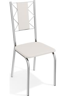 Kit 2 Cadeiras Lisboa Cromada De Metal Branco Kappesberg - Branco - Dafiti