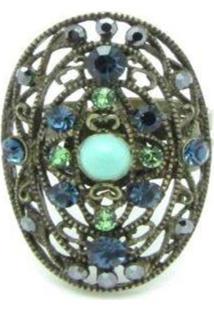 Anel Armazém Rr Bijoux Turquesa Azul E Verde