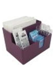 Porta Sachês Guardanapos Açúcar Organizador Multiuso Bancada Purple