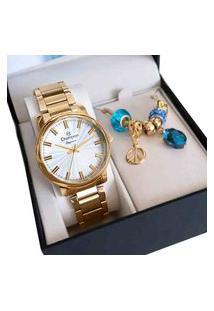 Relógio Champion Feminino Dourado Analógico Cn26037W