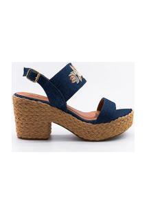 Sandália Plataforma Jeans Lavine